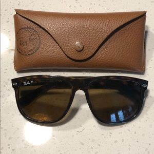 Ray-Ban Polarized tortoise sunglasses